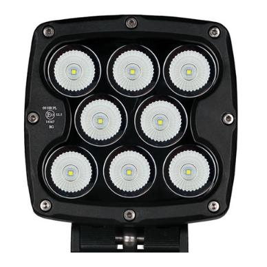 LED apvalus sertifikuotas žibintas 80W 8000LM 12-24V (E13 00 HR PL) FLOOD 4