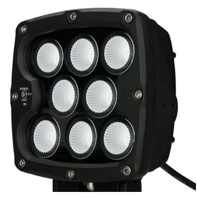 LED apvalus sertifikuotas žibintas 80W 8000LM 12-24V (E13 00 HR PL) FLOOD 3