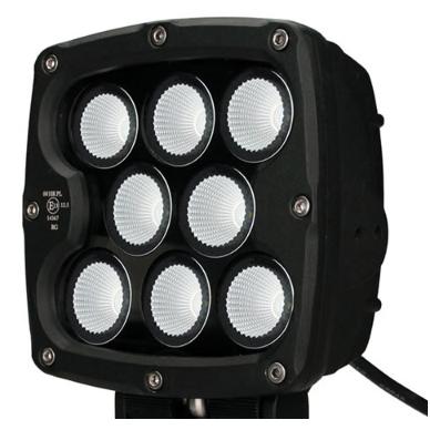 LED apvalus sertifikuotas žibintas 80W 8000LM 12-24V (E13 00 HR PL) FLOOD 50* 5