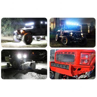 LED apvalus sertifikuotas žibintas 80W 8000LM 12-24V (E13 00 HR PL) FLOOD 50* 13