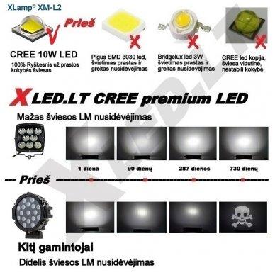 LED apvalus sertifikuotas žibintas 80W 8000LM 12-24V (E13 00 HR PL) FLOOD 50* 3