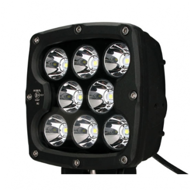 LED apvalus sertifikuotas žibintas 80W 8000LM 12-24V (E13 00 HR PL) SPOT 15