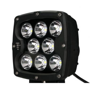 LED apvalus sertifikuotas žibintas 80W 8000LM 12-24V (E13 00 HR PL) SPOT 13