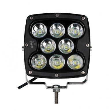 LED apvalus sertifikuotas žibintas 80W 8000LM 12-24V (E13 00 HR PL) SPOT 12