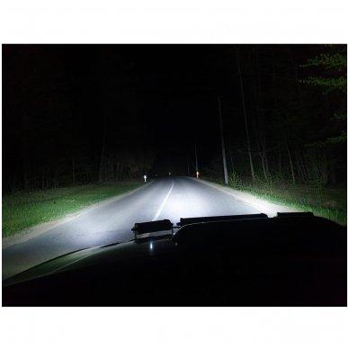 LED BAR sertifikuotas žibintas 120W 12000LM 12-24V (E9 HR PL) COMBO 4
