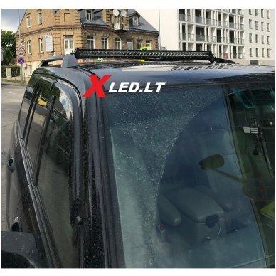LED BAR sertifikuotas žibintas 400W 40000LM 12-24V (E9 HR PL) COMBO 5
