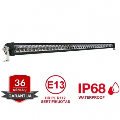 LED BAR sertifikuotas žibintas 440W 44000LM 12-24V (E9 HR PL) COMBO