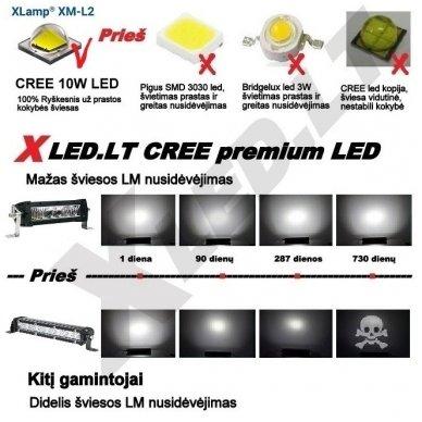LED BAR sertifikuotas žibintas 500W 50000LM 12-24V (E9 HR PL) COMBO 135cm 7