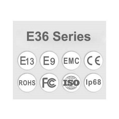 LED BAR sertifikuotas žibintas 60W 6000LM 12-24V (E9 HR PL) SPOT 12