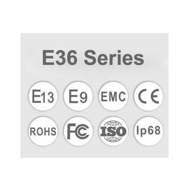 LED BAR sertifikuotas žibintas 60W 6000LM 12-24V (E9 HR PL) SPOT 14