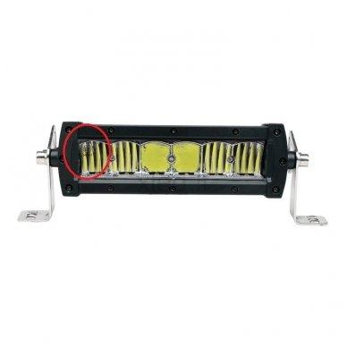 LED BAR sertifikuotas žibintas 60W 6000LM 12-24V (E9 HR PL) SPOT 21cm 4