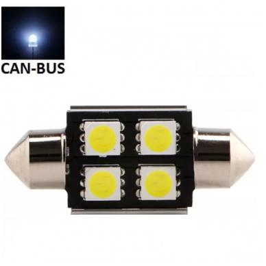 Led CAN BUS lemputė F10 / C5W 31mm - 4 LED