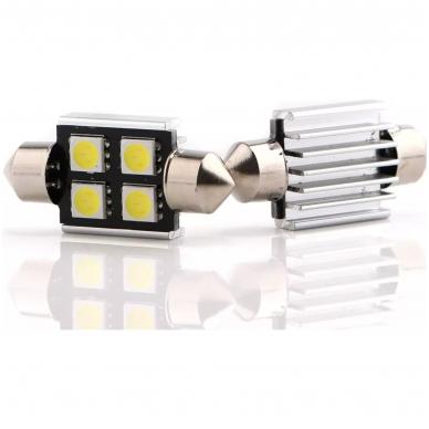Led CAN BUS lemputė F10 / C5W 31mm - 4 LED 2