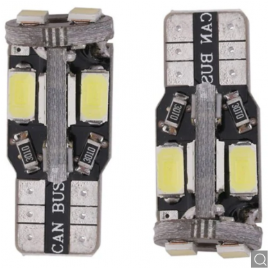 LED CAN BUS lemputė T10 / W5W - 10 LED balta 4
