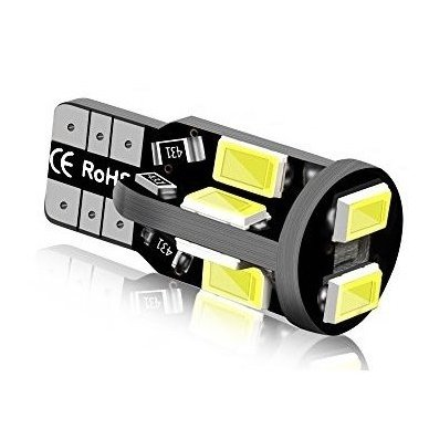 LED CAN BUS lemputė T10 / W5W - 10 LED balta 2