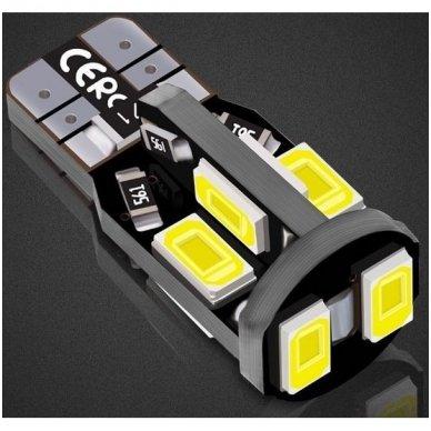 LED CAN BUS lemputė T10 / W5W - 10 LED balta 5