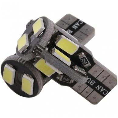 LED CAN BUS lemputė T10 / W5W - 10 LED balta 3