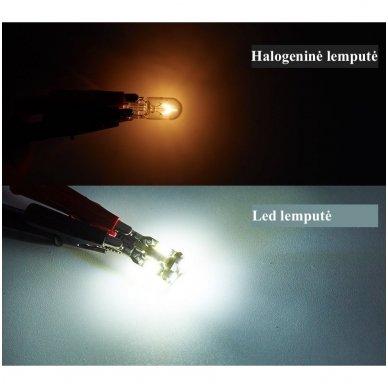 LED CAN BUS lemputė T10 / W5W - 10 LED balta 8