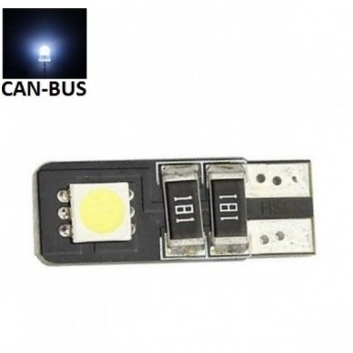 LED CAN BUS lemputė T10 / W5W - 2 LED