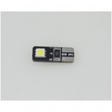 LED CAN BUS lemputė T10 / W5W - 2 LED 3