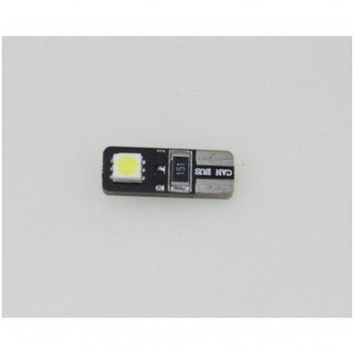 LED CAN BUS lemputė T10 / W5W - 2 LED 3