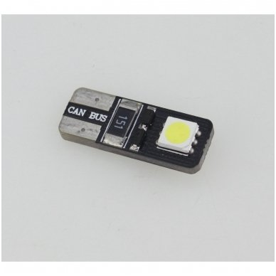 LED CAN BUS lemputė T10 / W5W - 2 LED 4