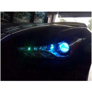 LED Devil Eyes mėlynos tuning linzių lemputės 11
