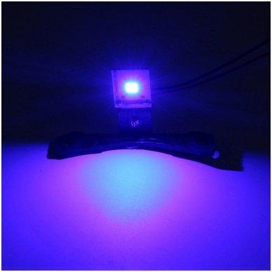 LED Devil Eyes mėlynos tuning linzių lemputės 6