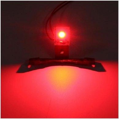 LED Devil Eyes raudonos tuning linzių lemputės 6