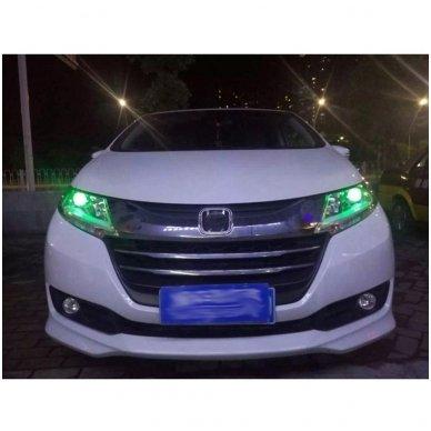 LED Devil Eyes žalios tuning linzių lemputės 3