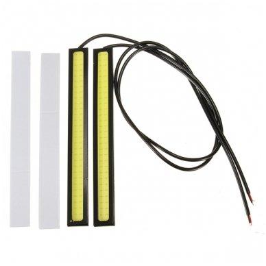 LED DRL COB 6w*2, 14cm dienos žibintas klijuojamas 2
