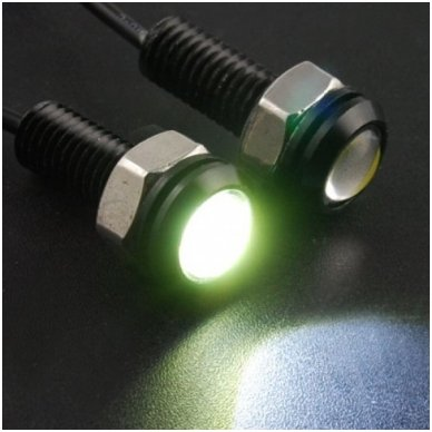 Led DRL universalus dienos žibintas - šviečiančios LED akutės 3