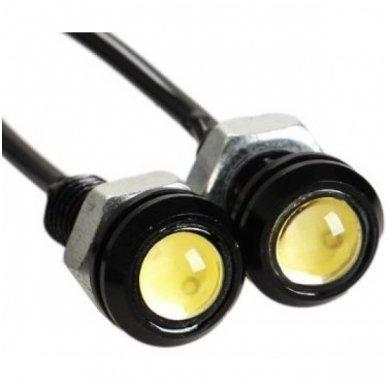 Led DRL universalus dienos žibintas - šviečiančios LED akutės