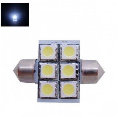 LED F10 / c5w 31mm lemputė - 6 LED