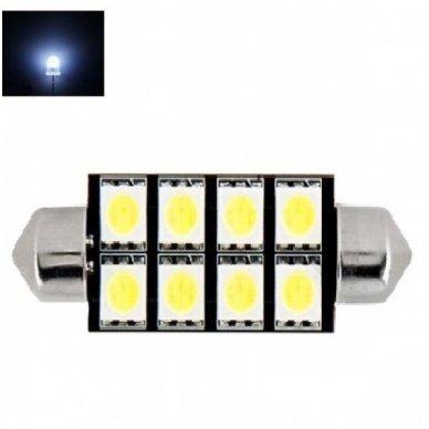 Led F10 / c5w 42mm lemputė - 8 LED