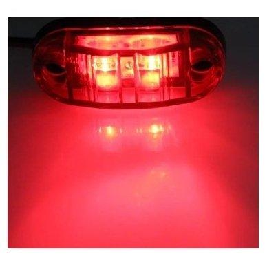 LED gabaritas raudonas 12V transportui 00SM1 E11 0212 DOT SAEP2P307 2