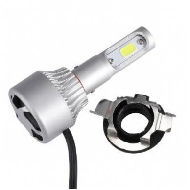 LED H7 lemputės adapteris - montavimo lizdas LED sistemoms, laikiklis BMW/ VW/ AUDI/ MB/ TOYOTA/ MAZDA/ SAAB/ NISSAN 4