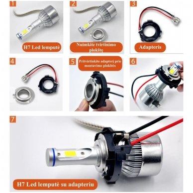 LED H7 lemputės adapteris - montavimo lizdas LED sistemoms laikiklis VW GOLF 7 7