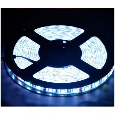 LED juosta balta 12V 4.8W/m LED3528 SMD hermetiška 2