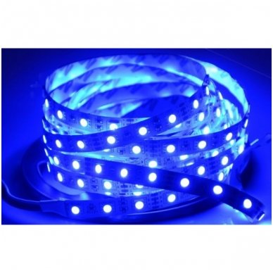 LED juosta mėlyna 12V 14.4W/m LED5050 SMD hermetiška 4
