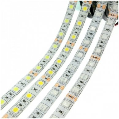 LED juosta raudona 12V 14.4W/m LED5050 SMD hermetiška 2