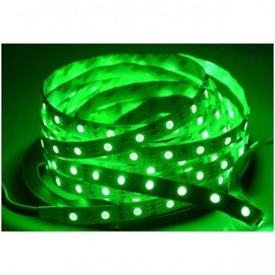 LED juosta žalia 12V 14.4W/m LED5050 SMD hermetiška 4