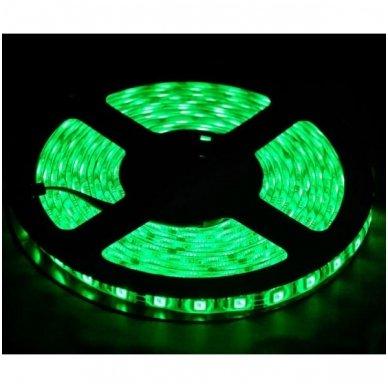 LED juosta žalia 12V 4.8W/m LED3528 SMD hermetiška 2
