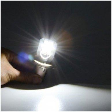 LED lemputė M2S BA20D 6W 800LM 12-24V motociklams / keturračiams / sunkvežimių 3