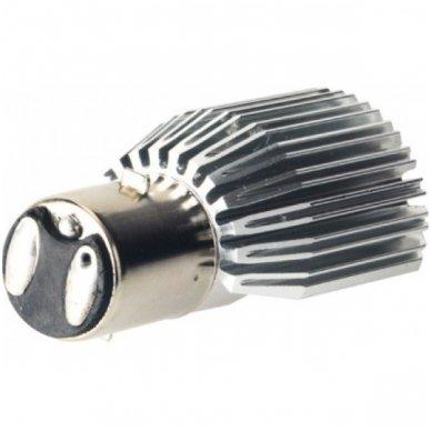 LED lemputė M2S BA20D 6W 800LM 12-24V motociklams / keturračiams / sunkvežimių 4