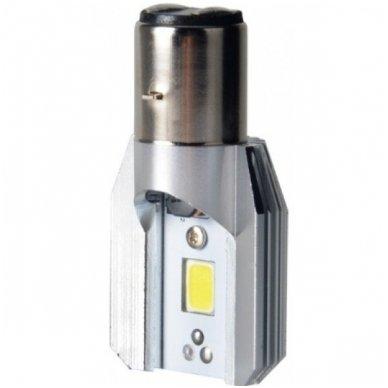 LED lemputė M2S BA20D 6W 800LM 12-24V motociklams / keturračiams / sunkvežimių 2