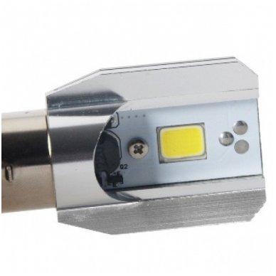 LED lemputė M2S BA20D 6W 800LM 12-24V motociklams / keturračiams / sunkvežimių 5