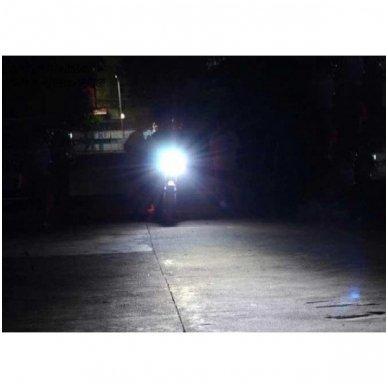 LED lemputė M2S BA20D 6W 800LM 12-24V motociklams / keturračiams / sunkvežimių 8