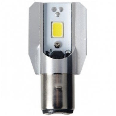 LED lemputė M2S BA20D 6W 800LM 12-24V motociklams / keturračiams / sunkvežimių