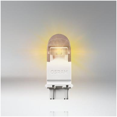 LED lemputės P27/7W OSRAM AMBER PREMIUM 12V 2W, 3557YE-02B, 4052899368064 4